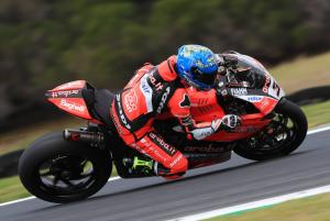 Melandri fastest as Rea, Sykes both fall