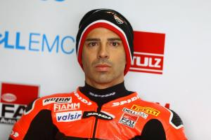 Melandri remains top in weather-hit FP3