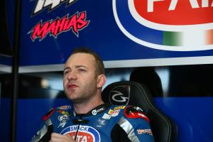 Mahias holds comfortable lead in wet at Donington Park