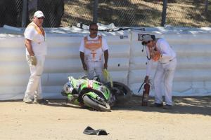 Razgatlioglu out of Laguna Seca race two with broken toe
