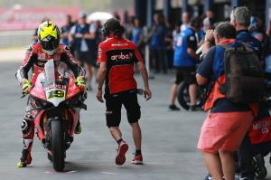 Bautista, Davies commence two-day Ducati V4 R Aragon test