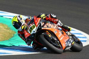 Bautista sets Jerez practice pace, Baz walks away from huge crash