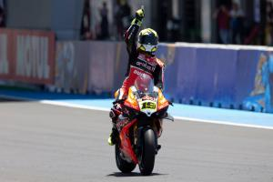 Bautista breaks free for 'lucky 13' win, Rea recovers to fourth