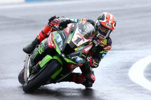 Rea leads wet FP2, van der Mark stays fastest overall