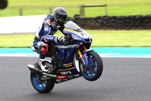 Baz tops red-flagged Phillip Island Warm Up