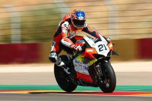 Ruthless Rinaldi powers to maiden WorldSBK win, Redding crashes out
