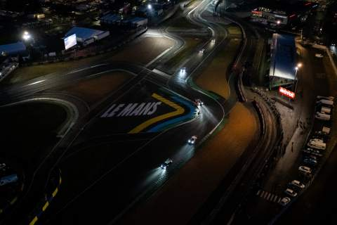Aerial shot of the Le Mans 24 hours [pic credit: Le Mans 24 Heures]