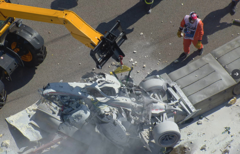 Guanyu Zhou wins shortened F2 race halted after huge accident
