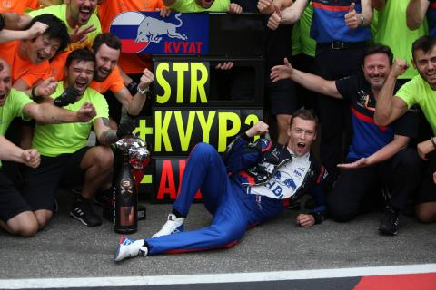 Redemption for Kvyat at last – and a message to Red Bull?