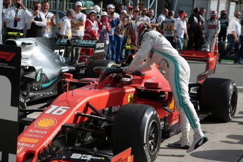 """Leclerc admits defence against Hamilton was """"very on the limit"""""""