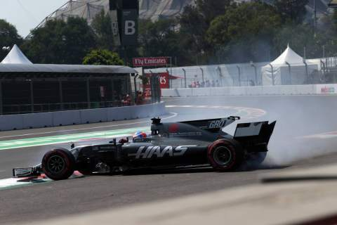 Grosjean relying on guesswork in Mexico after little Friday running