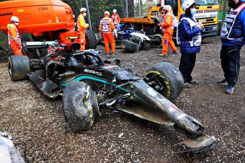 """Bottas: Russell Imola F1 incident was """"completely his fault"""""""