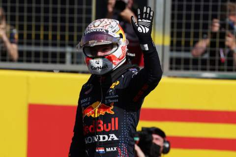 Max Verstappen (NLD) Red Bull Racing wins the sprint race and claims pole position.