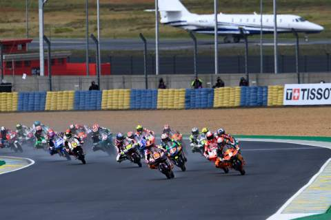 Andrea Migno race start, Moto3 race, French MotoGP, 16 May 2021