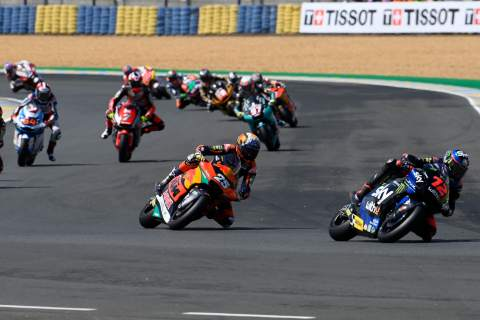 Marco Bezzecchi first lap, Moto2 race, French MotoGP, 16 May 2021