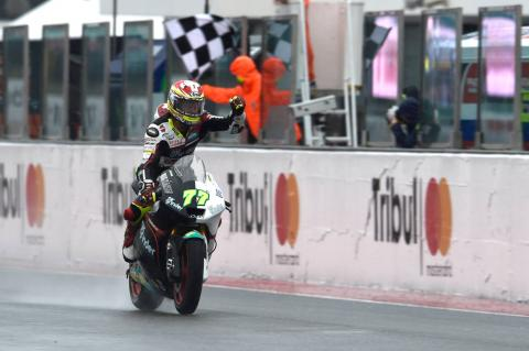 Moto2 Misano: Aegerter keeps Luthi at bay for win, Morbidelli crashes out