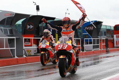 REPORT: Marquez ties title lead with victory at Misano