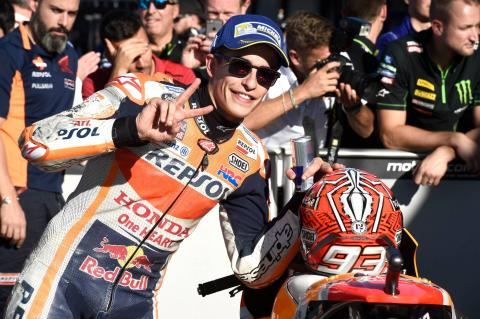Pole man Marquez primed for title glory