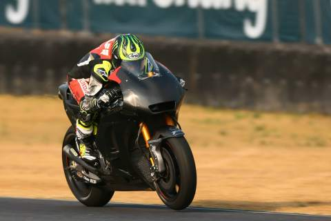 Jet lagged Crutchlow fastest, 'made a step'
