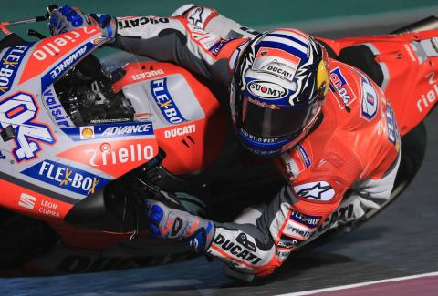 Dovizioso sees off late Marquez lunge for Qatar victory