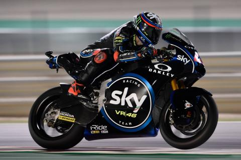Moto2 Qatar: Bagnaia hangs on for first win