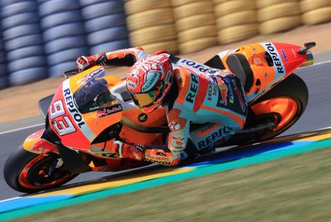 Marquez dominant as rivals falter at Le Mans