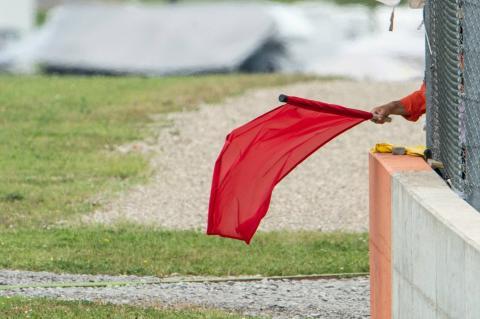 Valencia MotoGP race red-flagged in heavy rain