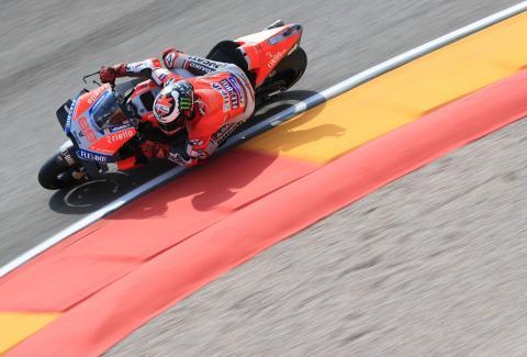 Lorenzo keeps polerun going atAragon,Rossi 18th