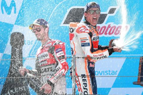 Marquez outguns Dovizioso for Aragon victory