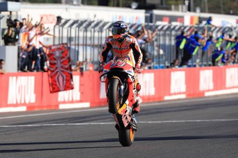 REPORT: Marquez champion as Dovi falls in Japan