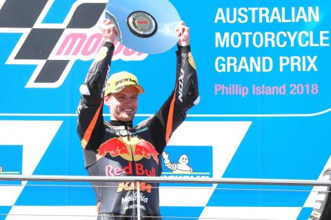 Moto2 Australia: Binder wins final lap thriller