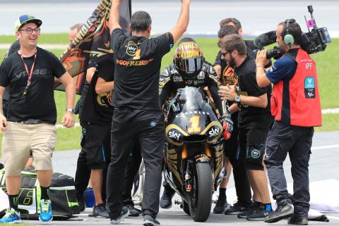 Moto2 Malaysia: Marini wins race, Bagnaia champion from third