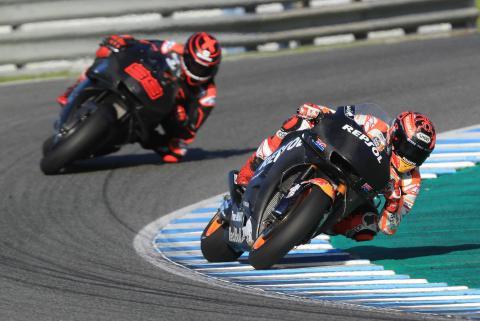 Marquez faster on 2018 Honda, feeling better on 2019 prototype