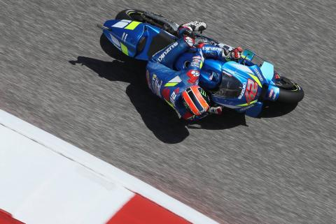 Rins sees off Rossi to win Americas MotoGP, Marquez crashes