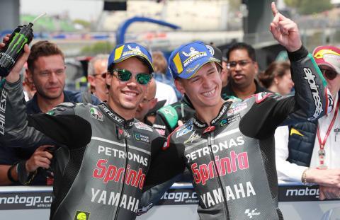 Quartararo 'Silverstone good for us', Morbidelli 'a nice dance'