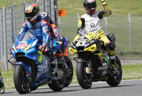 'Energised' Bagnaia surprises to top Friday timesheets
