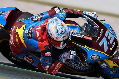 Moto2 Catalunya: Marquez makes it three after late breakaway
