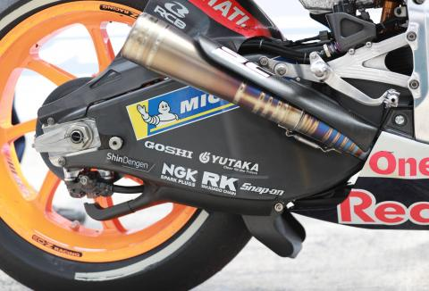 Carbon fibre swingarms banned in Moto3