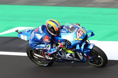 Rins mugs Marquez at last corner for British MotoGP victory