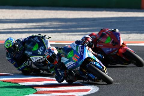 Ferrari doubles up to dominate Misano MotoE