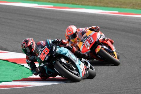 Quartararo confident after Marquez duel, not afraid of Aragon straight
