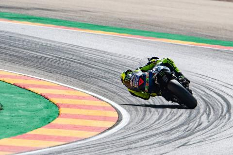 Rossi 'a bit too much on the limit'