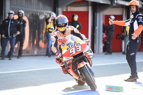 Valencia MotoGP - Warm-up Results