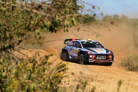Mikkelsen edges Ostberg to lead on Hyundai debut