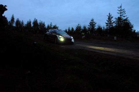 Ogier leads Wales Rally GB