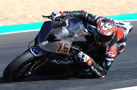 Baz already on the pace at Althea BMW test debut