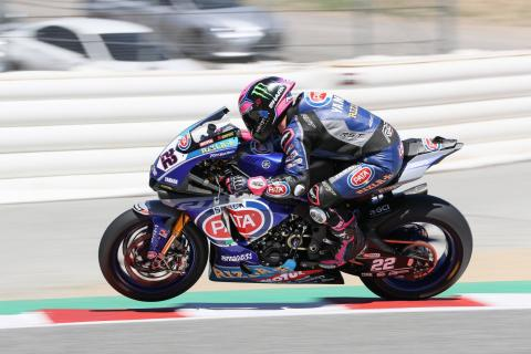 Lowes takes third off van der Mark at Laguna Seca