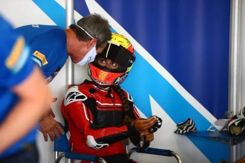 WorldSSP challenger Maria Herrera joins Supersport 300 riders for first test