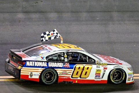 Dale Earnhardt Jr. storms to second Daytona 500