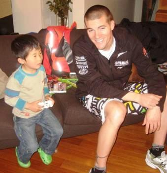 Haga's son and Ben Spies...